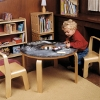 woody chalkboard table for children