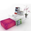 colourful furnishings for home and office made of plexi